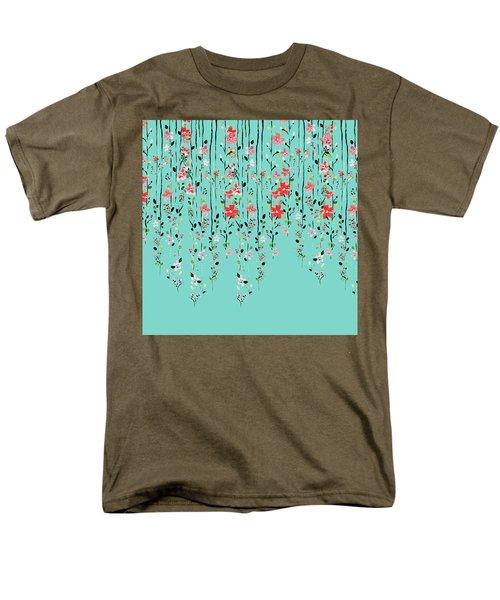 Floral Dilemma Men's T-Shirt  (Regular Fit) by Uma Gokhale