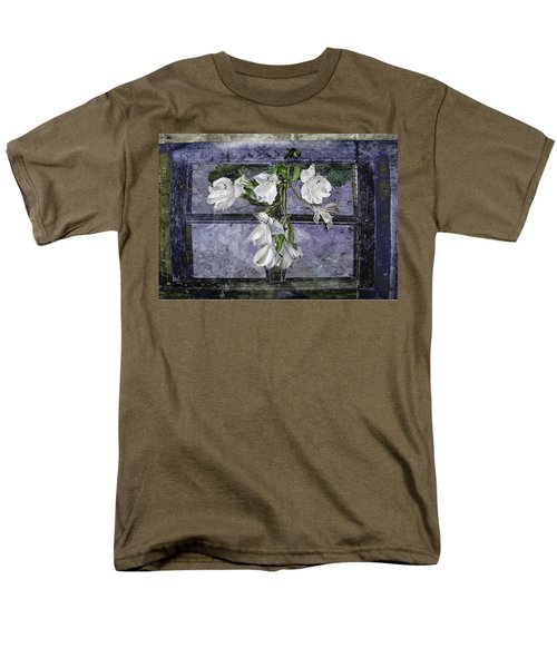 Men's T-Shirt  (Regular Fit) featuring the photograph Floral Window Frame by Bonnie Willis
