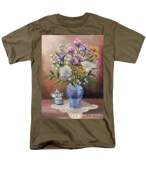 Floral With Blue Vase With Capadamonte Men's T-Shirt  (Regular Fit)