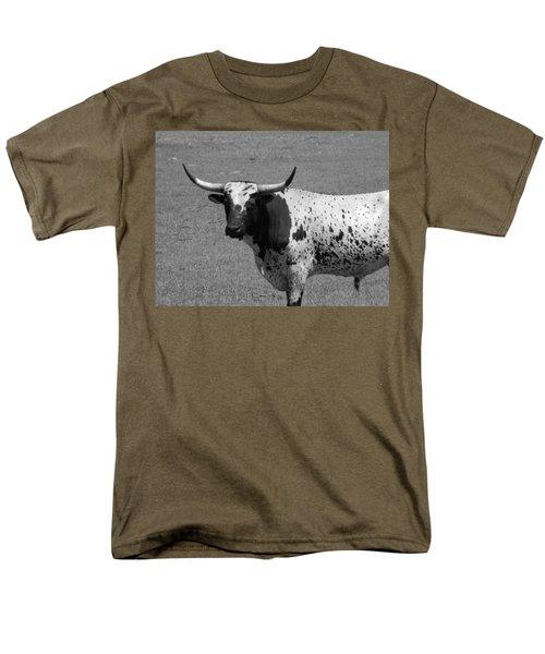 Florida Longhorn Black And White Photo Men's T-Shirt  (Regular Fit) by Warren Thompson