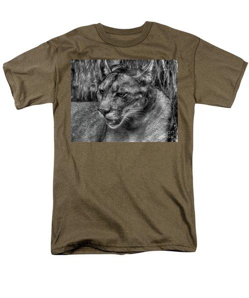 Florida Panther Men's T-Shirt  (Regular Fit) by Myrna Bradshaw