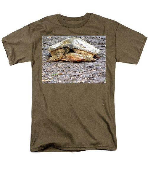 Men's T-Shirt  (Regular Fit) featuring the photograph Florida Softshell Turtle 000 by Chris Mercer