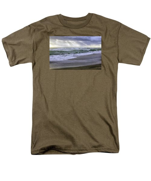 Florida Treasure Coast Beach Storm Waves Men's T-Shirt  (Regular Fit) by Betty Denise