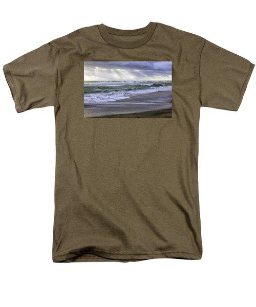 Florida Treasure Coast Beach Storm Waves Men's T-Shirt  (Regular Fit) by Betty Denise