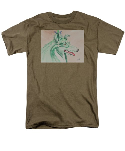 Men's T-Shirt  (Regular Fit) featuring the painting Flower Dog # 11 by Hilda and Jose Garrancho