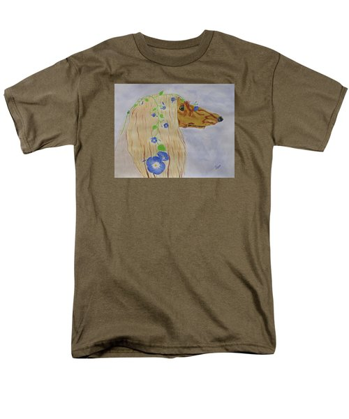 Men's T-Shirt  (Regular Fit) featuring the painting Flower Dog 10 by Hilda and Jose Garrancho