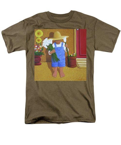 Flowers For A Friend Men's T-Shirt  (Regular Fit) by Lance Headlee