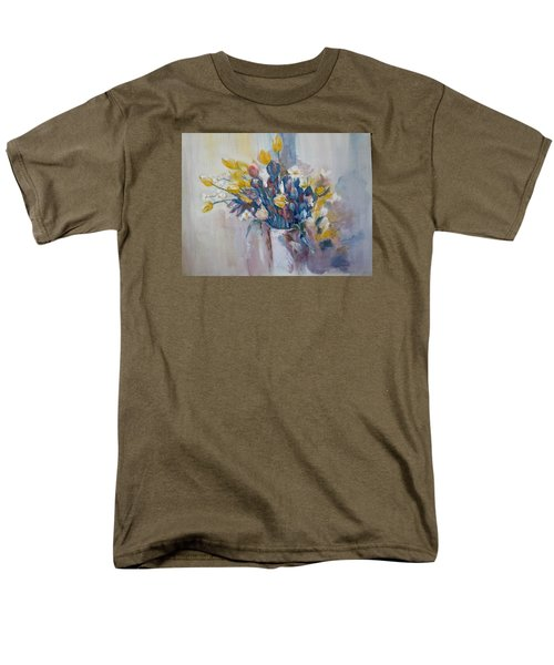 Tulips Flowers Men's T-Shirt  (Regular Fit) by Khalid Saeed
