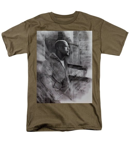 Men's T-Shirt  (Regular Fit) featuring the drawing Reflections Of Floyd Mayweather by Noe Peralez