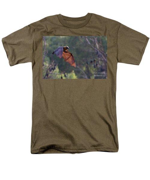 Flying Fox In Mid Air Men's T-Shirt  (Regular Fit) by Craig Dingle
