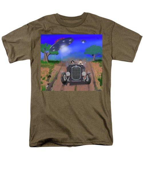 Flying Saucers Attack Teenage Hot Rodders Men's T-Shirt  (Regular Fit) by Ken Morris