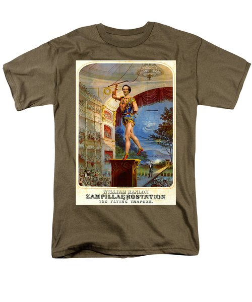 Men's T-Shirt  (Regular Fit) featuring the photograph Flying Trapeze 1850 by Padre Art