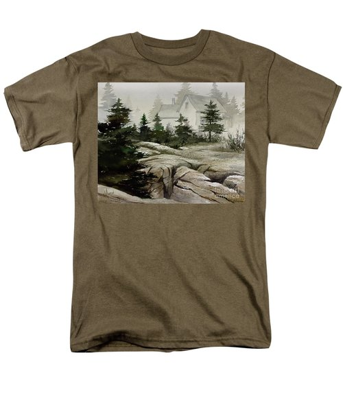 Men's T-Shirt  (Regular Fit) featuring the painting Fog At The Coast by James Williamson