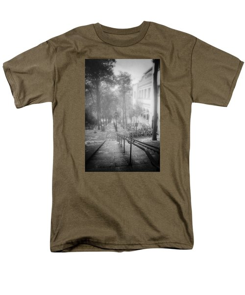 Men's T-Shirt  (Regular Fit) featuring the photograph Fog In Montmartre by John Rivera