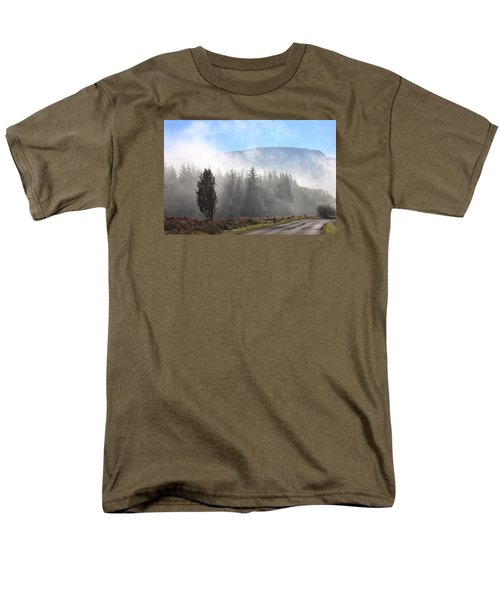 Men's T-Shirt  (Regular Fit) featuring the photograph Fog On The Road To Fintry by RKAB Works