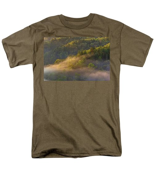 Fog Playing In The Forest Men's T-Shirt  (Regular Fit) by Ulrich Burkhalter