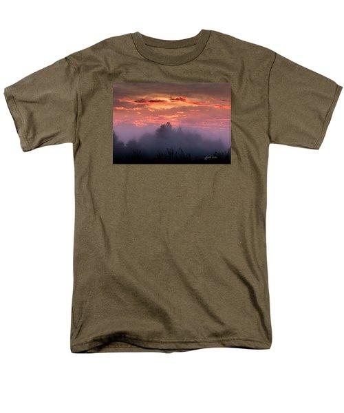 Foggy Mist At Dawn Men's T-Shirt  (Regular Fit) by E Faithe Lester