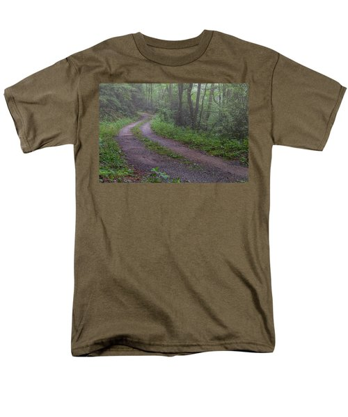 Foggy Road Men's T-Shirt  (Regular Fit) by David Cote