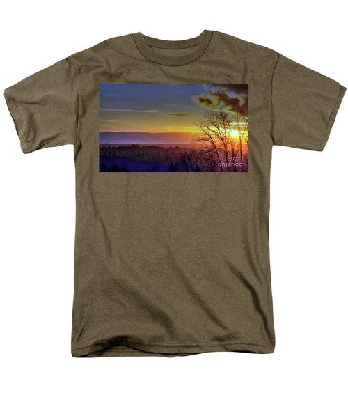 Foggy Sunset Men's T-Shirt  (Regular Fit) by Victor K