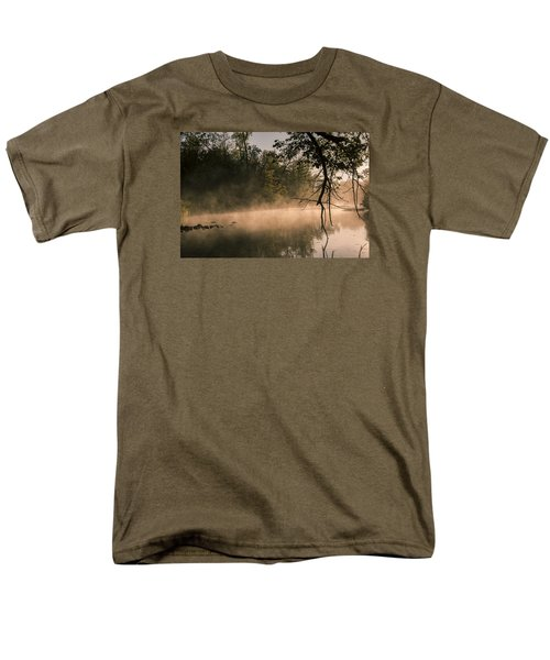 Men's T-Shirt  (Regular Fit) featuring the photograph Foggy Water by Annette Berglund