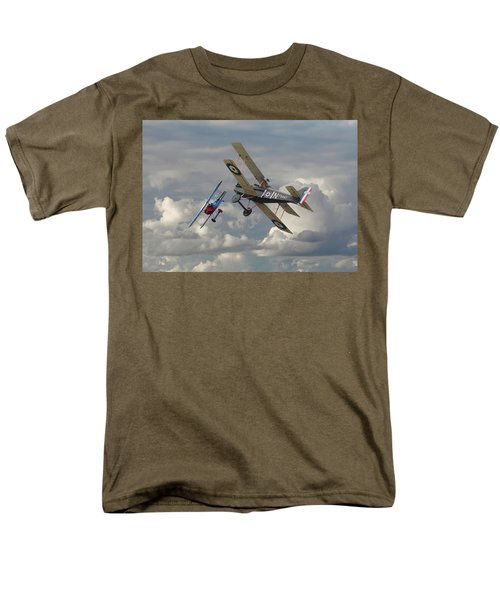 Men's T-Shirt  (Regular Fit) featuring the digital art Fokker Dvll And Se5 Head To Head by Pat Speirs