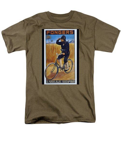 Fongers In Gebruik Bil Nederlandsche En Nederlndsch Indische Leger Vintage Cycle Poster Men's T-Shirt  (Regular Fit)