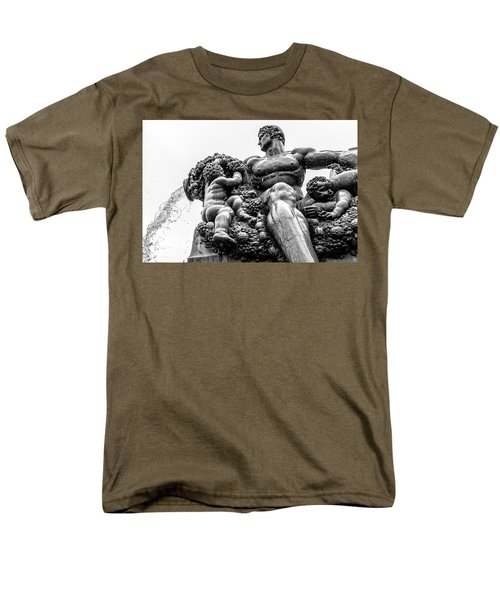 Men's T-Shirt  (Regular Fit) featuring the photograph Fontana Di Piazza Solferino-1 by Sonny Marcyan