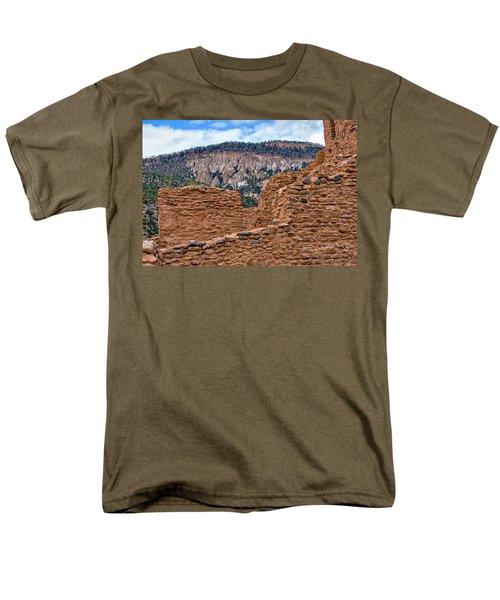 Men's T-Shirt  (Regular Fit) featuring the photograph Forbidding Cliffs by Alan Toepfer
