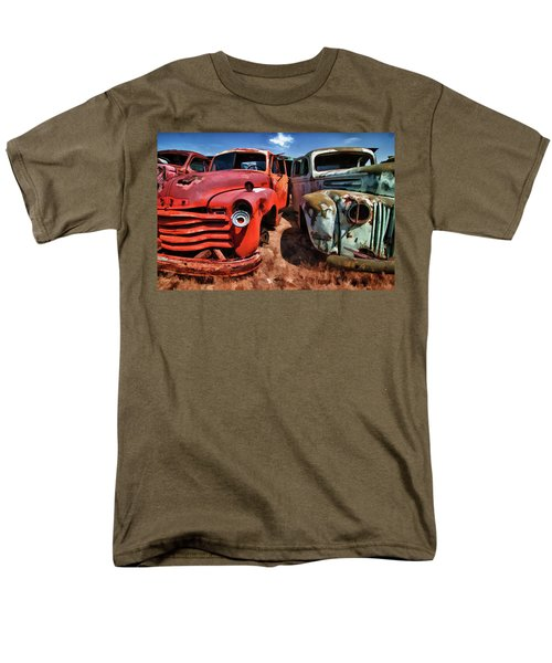 Ford And Chevy Standoff Men's T-Shirt  (Regular Fit) by Jeffrey Jensen