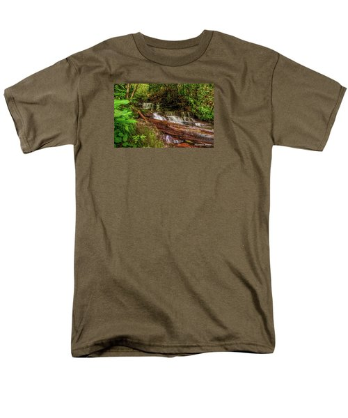 Men's T-Shirt  (Regular Fit) featuring the photograph Forest Falls by Christopher Holmes
