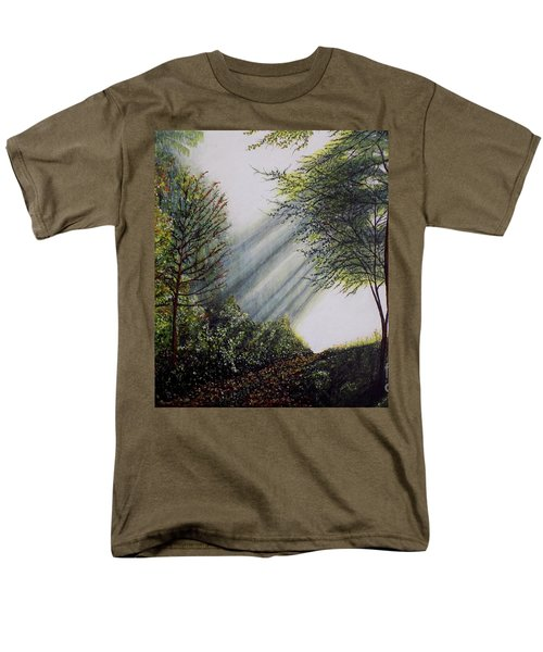 Forest Pathway Men's T-Shirt  (Regular Fit) by Judy Kirouac
