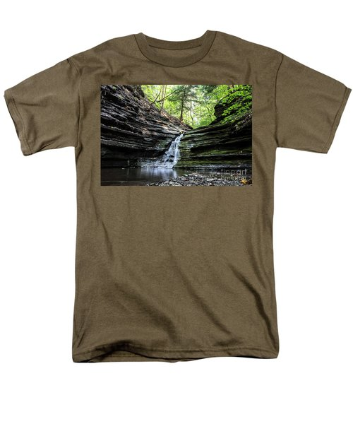 Men's T-Shirt  (Regular Fit) featuring the photograph Forest Waterfall by MGL Meiklejohn Graphics Licensing