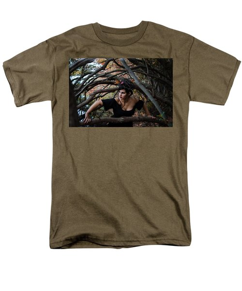 Forest Witch Men's T-Shirt  (Regular Fit) by Stefanie Silva