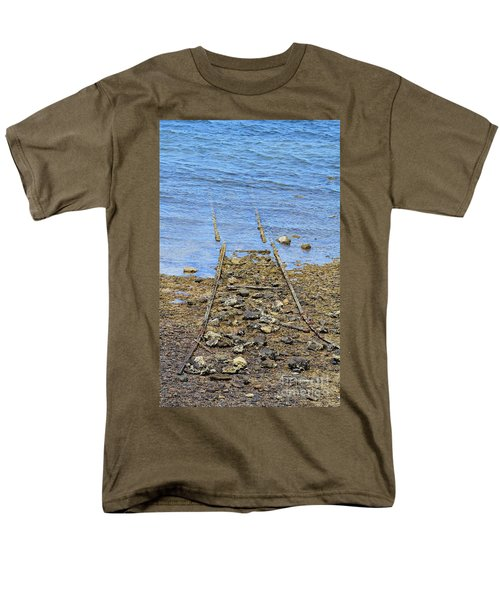 Men's T-Shirt  (Regular Fit) featuring the photograph Forgotten Line by Stephen Mitchell