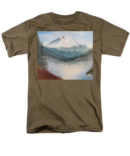 Fork In The River Men's T-Shirt  (Regular Fit) by Thomas Janos