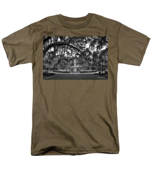 Forsyth Park Fountain 2 Savannah Georgia Art Men's T-Shirt  (Regular Fit) by Reid Callaway