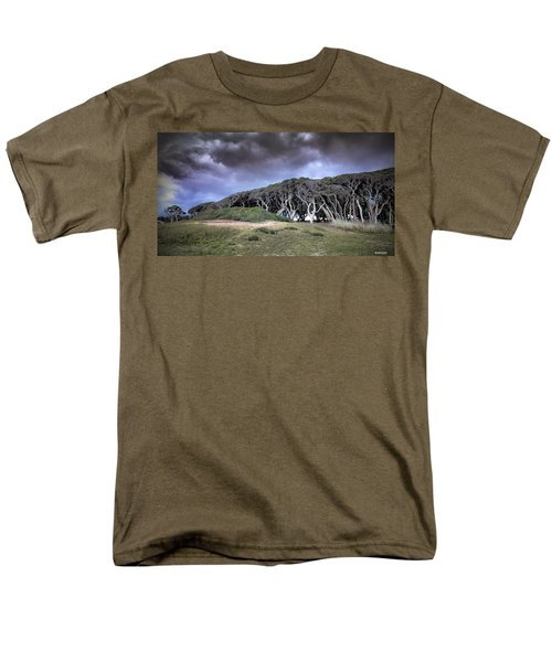 Fort Fisher Stormy Sunset Men's T-Shirt  (Regular Fit) by Phil Mancuso