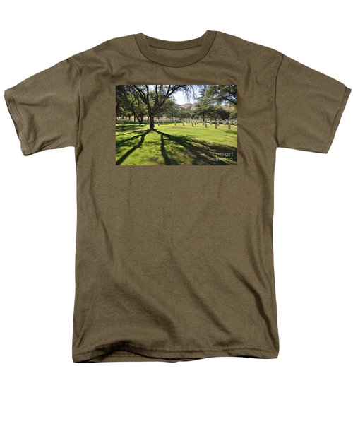 Men's T-Shirt  (Regular Fit) featuring the photograph Fort Huachuca Post Cemetery by Gina Savage