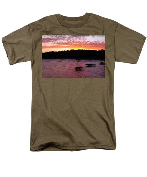 Men's T-Shirt  (Regular Fit) featuring the photograph Four Elements Sunset Sequence 5 Coconuts Qld  by Kerryn Madsen - Pietsch