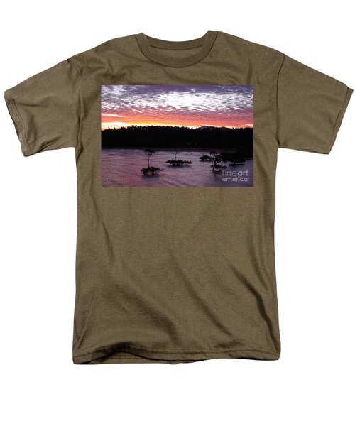 Men's T-Shirt  (Regular Fit) featuring the photograph Four Elements Sunset Sequence 8 Coconuts Qld  by Kerryn Madsen - Pietsch
