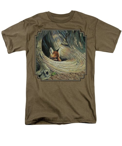 Fox - It's A Big World Out There Men's T-Shirt  (Regular Fit) by Crista Forest
