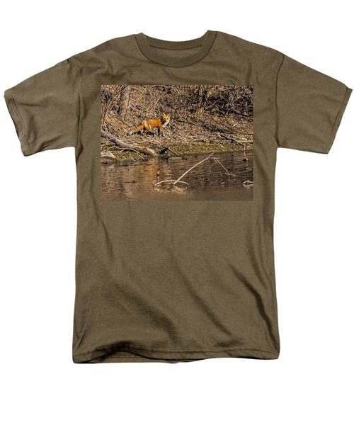 Men's T-Shirt  (Regular Fit) featuring the photograph Fox Walk by Edward Peterson