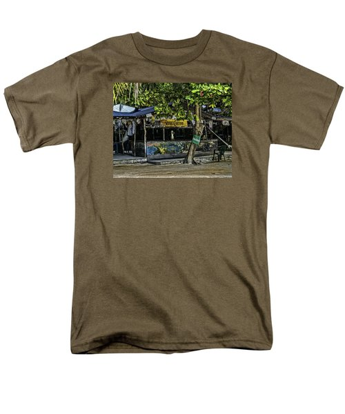 Foxy's On Jost Van Dyke Men's T-Shirt  (Regular Fit) by Gordon Engebretson