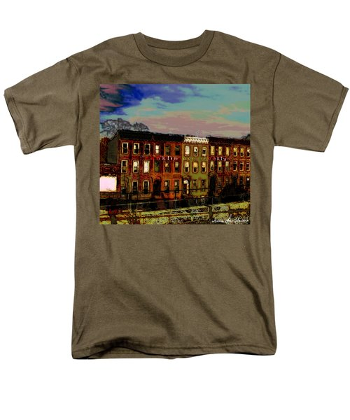 Men's T-Shirt  (Regular Fit) featuring the photograph Franklin Ave. Bk by Iowan Stone-Flowers