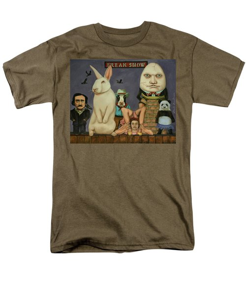 Men's T-Shirt  (Regular Fit) featuring the painting Freak Show by Leah Saulnier The Painting Maniac
