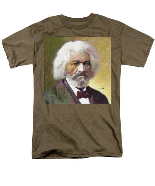 Frederick Douglass Men's T-Shirt  (Regular Fit) by Wayne Pascall