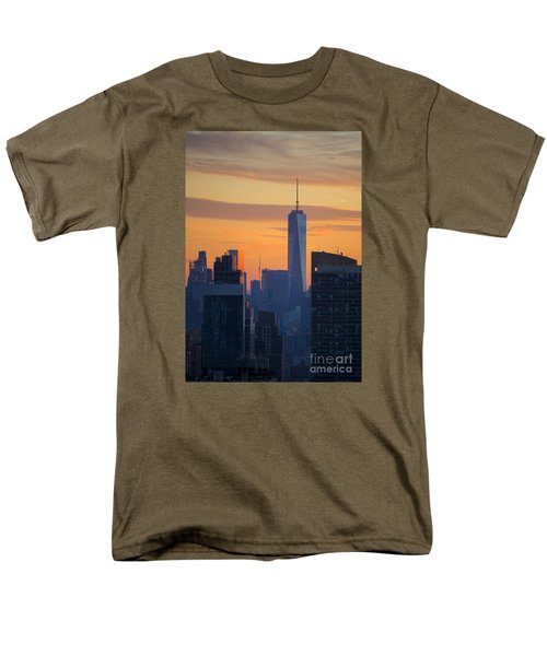 Freedom Tower At Sunset Men's T-Shirt  (Regular Fit) by Diane Diederich