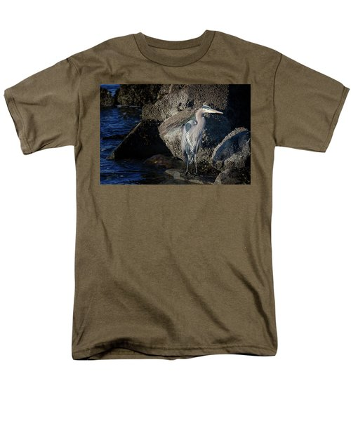 Men's T-Shirt  (Regular Fit) featuring the photograph French Creek Heron by Randy Hall