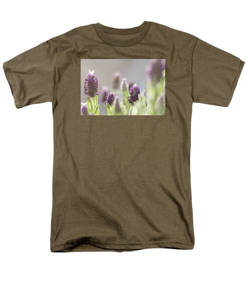 French Lavendar Buds Men's T-Shirt  (Regular Fit) by Mary Angelini