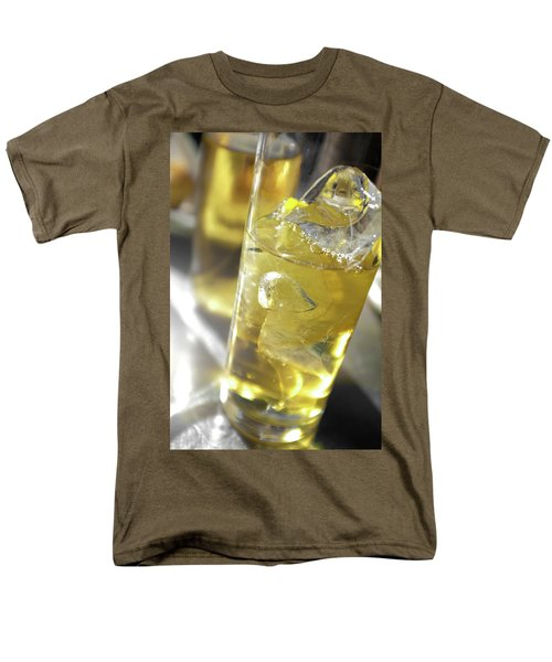 Men's T-Shirt  (Regular Fit) featuring the photograph Fresh Drink With Lemon by Carlos Caetano